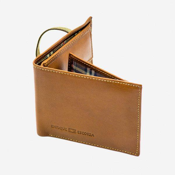 Cartera de piel marrón gran diseño hecho en Ubrique