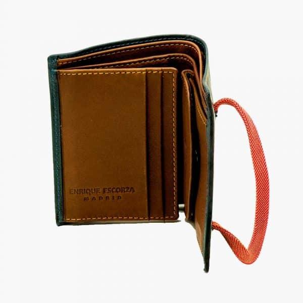 Billetera moderna de hombre con cierre elástico